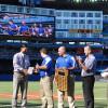 Sheridan students honoured during pre-game ceremonies at Blue Jays game