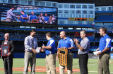 Sheridan students honoured during pre-game ceremonies at Blue Jays game
