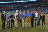 Sheridan hits a home-run and awards athletic therapy students