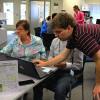 Student volunteers share their techno genius