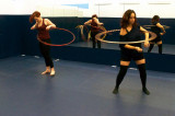 Hoop and flow helps students get loose and de-stress