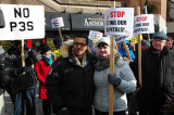 Provincial budget talks met with protest in Hamilton
