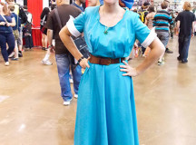 Taylor Duffield, cosplayed as Anastasia, shows off her costume.