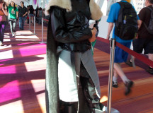 Rob Stark, from Game of Thrones, heads back into the convention.