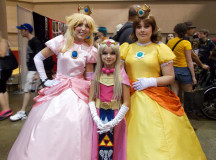 Princess Peach, Zelda and Daisy (Daisy and Peach from Super Mario and Zelda from Legend of Zelda)