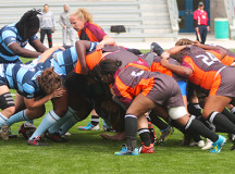 Lady Bruins scrum