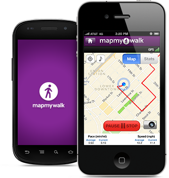 MapMyWalk app is available for BlackBerry, iPhone and Android.