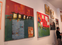 A few of the 36 paintings included in the exhibit.
