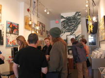 "The gallery enjoyed a good turnout for the ""Stranger Than Fiction"" exhibit."