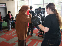 The Sheridan Anime Society goes toe-to-toe with the Martial Arts Club.