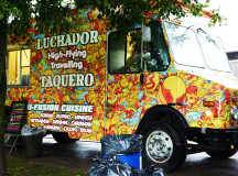From Waterloo On. Luchador brings creative mexican fusion cuisine to the street.