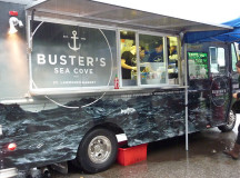 Buster`s Sea Cove from Toronto  brings the sea to the street offering a variety of fresh sea food