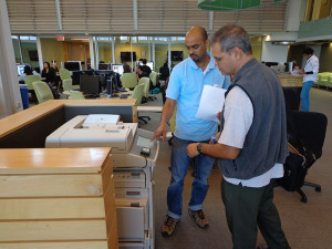 Printing sheets is a central part of life at the Learning Commons to students and staff.