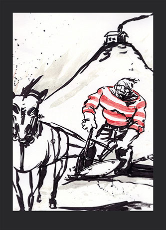 A page from Lemire's first published work: Lost Dogs.