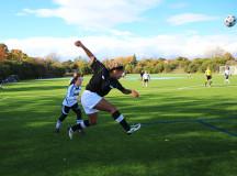 Kwanzaa sends the ball into the zone