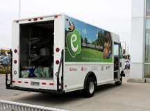 The Thanksgiving Cram-a-Cruiser Food Drive donations were stored in the Eden Community Food Bank truck.