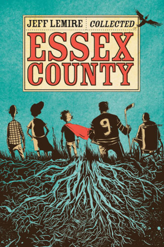 The cover to the Essex County collection, featuring all three books in the series.