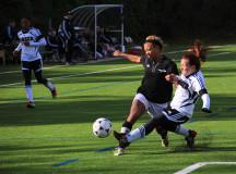 Hawk defender kicks balla way