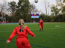 Nicole Zikovitz tosses in the ball
