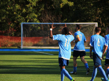 Hat trick hero Nicholas Lindsay celebrates a goal
