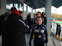Humber team accepting their bronze medals