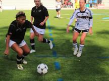 Kwanzaa playing up the field