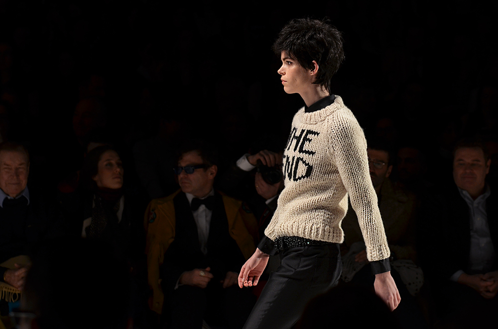 A model walks the runway during a fashion show last season. Photo by Jessica Weingarten.