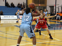 Sabrina Brathwaite plays in the ball