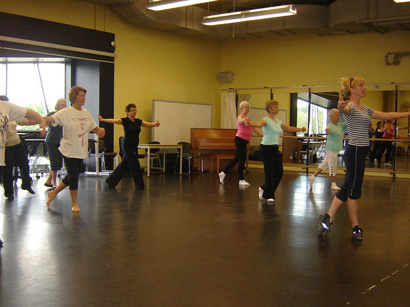 A dance class presented by the Sheridan Elder Research Centre, one of the key examples of creative ways to help seniors age in place