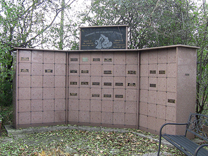 The columbarium for cremated animals. Each niche can hold four to six urns depending on their size. Some families also leave behind items such as collars or a favourite blanket the pet used to sleep on.