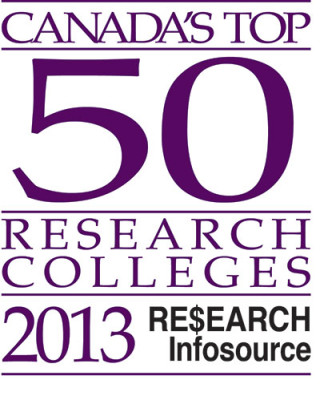 A study by Research Infosource Inc. listed Canada's Top 50 Research Colleges 2013, according to each college's funding in applied research.
