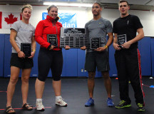 From Left - Chelsey Draker (2nd F), Shanice Szmidt (1st F), Brodie Allen (1st M), Dylan Banks (2nd M)