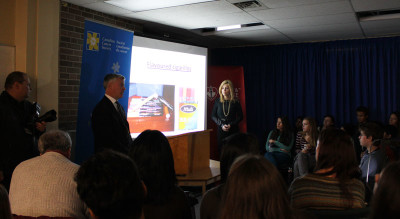 Eve Adams and Rob Cunningham discuss flavoured tobacco products in a slideshow presentation.