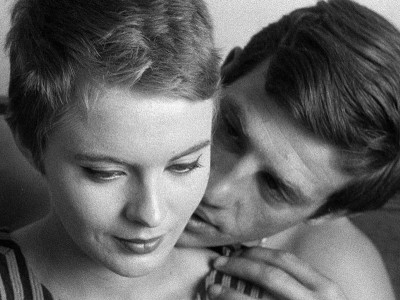 Jean Seberg and Jean- Paul Belmondo in Breathless (1959)