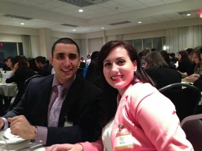 Antoine Sarhan and Erica Forest at the 35th Inter-Collegiate Business Competition early this month