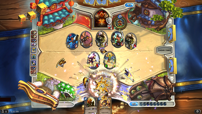 Special effects and audio are all present in Blizzards new card game.