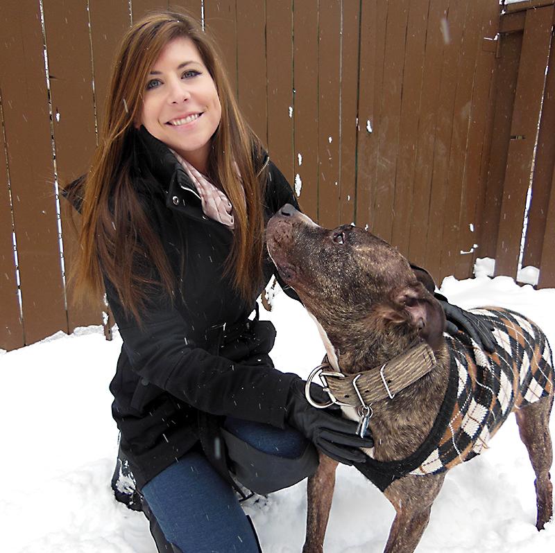 Tara MacNeil and her American pit bull terrier, Boss