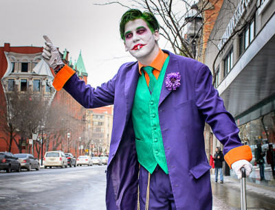Mark Langvee in character as The Joker in Toronto.
