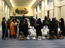 Even the Jawas aren't camera shy at Comic-con.