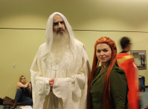 Saruman and Tauriel set grudges aside and team up.
