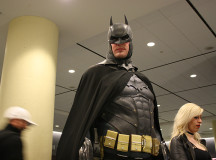 Batman stands tall and ready.