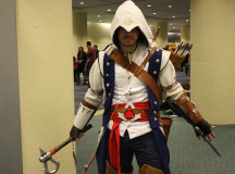 Connor Kenway carries enough weapons for a small army.