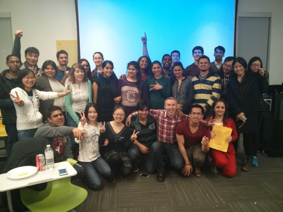 whole group of Sheridan International Student Association at HMC campus