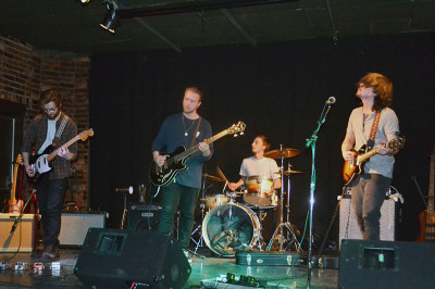 Look Here Junior played at the Corktown Pub in Hamilton.  From left, Michael Stuglik, Dan Morris-Rice, Brennan Prescott, and Kevin Healy.