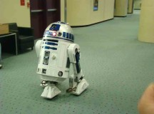 R2-D2 hanging out in  theMetro Toronto Convention Centre