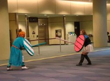 Sarah-Jane Murphy a Half Elf and Alexander Dotzteo fights in the Metro Toronto Convention Centre