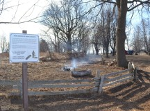 The next stop shows how maple sap used to be boiled down over a fire pit before the methods were improved.