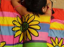 Artist: Kait Hill, Model: Saba Akhtar