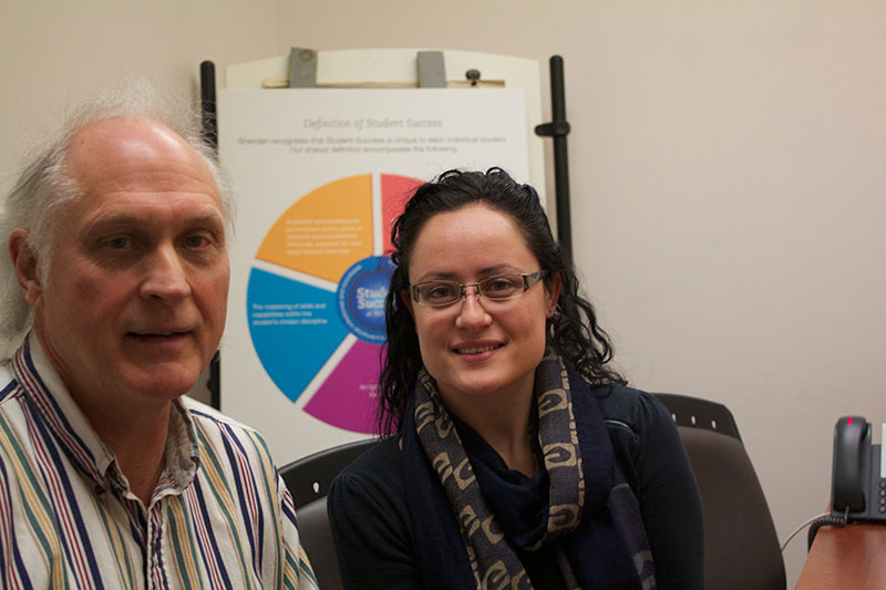 David Launslager, coordinator of EmployAbility, and Irina Rancheva, Sheridan student field placement assistant, have high hopes for the new pilot program.
