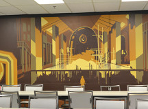 Mural done by Trafalgar art students at the STC cafeteria.